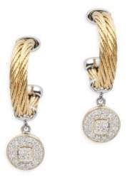 Alor Diamond, 18K Gold & Stainless Steel Circle Dangle & Drop Earrings