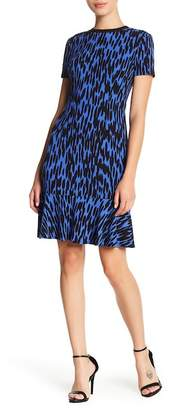 London Times Printed Flounce Hem Sheath Dress (Petite)