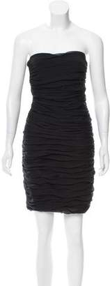 Diane von Furstenberg Scrunch-Layered Mini Dress