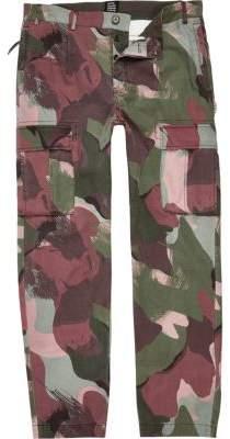 River Island Khaki green Design Forum camo cargo pants
