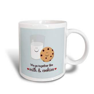5f0146cb0ade 3dRose We Go Together Like Milk and Cookies - Ceramic Mug