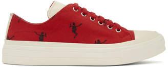 Alexander McQueen Red Dancing Skeleton Sneakers