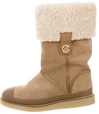 Tory BurchTory Burch Suede Logo-Embellished Boots