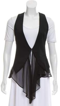 Elizabeth and James Silk Accented Casual Vest