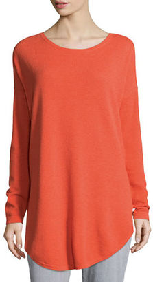 Eileen Fisher Long-Sleeve Waffle Tunic $198 thestylecure.com