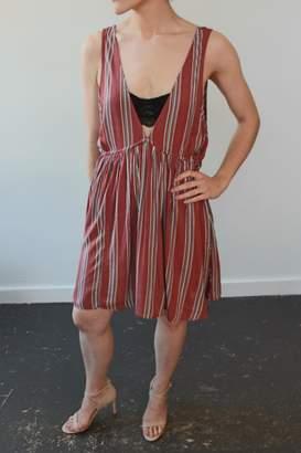 Anama Woven Dress Rust