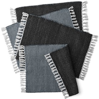 Better Homes & Gardens Double Weave Fringe Placemat, Set of 4, Multiple Colors