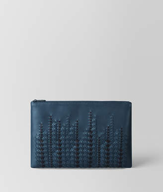 Bottega Veneta DENIM/TOURMALINE NAPPA POUCH