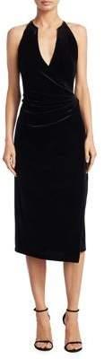 Elie Tahari Belecia Velvet Halter Dress