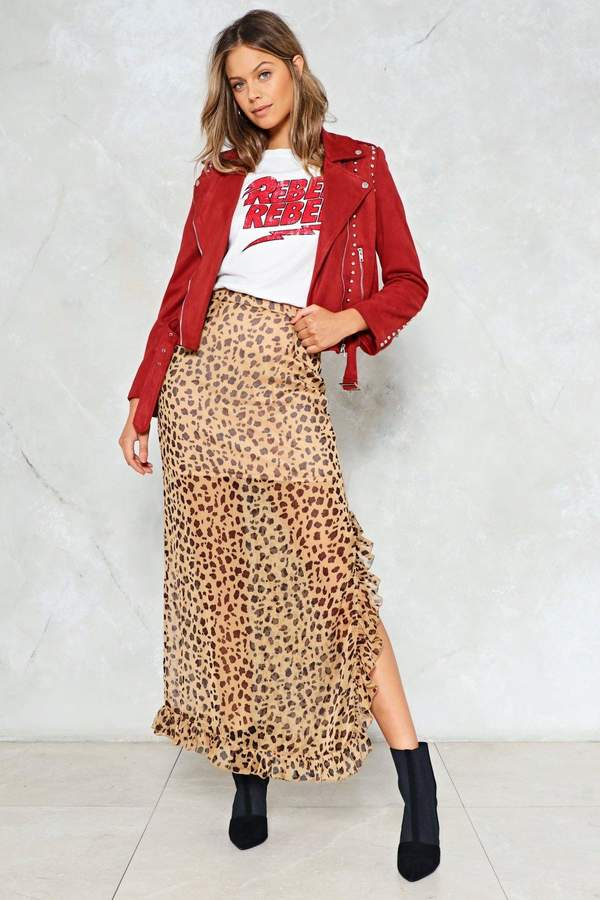 nastygal Cheetahs Always Prosper Maxi Skirt