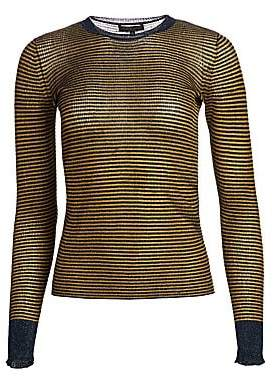 Rag & Bone Women's Raina Lurex Striped Crewneck Sweater