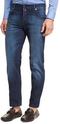 Kiton Medium Wash Denim Straight-Leg Jeans