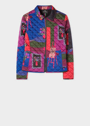 Paul Smith Women's 'Still Life Bouquet' Print Quilted Jacket