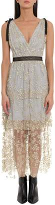 Self-Portrait Self Portrait Lace Midi Dress With Beads Embroidery