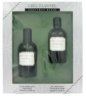 Geoffrey Beene GREY FLANNEL Men Gift Set - 4 oz Eau De Toilette/ Cologne + 4 oz After Shave
