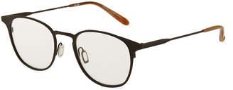 Garrett Leight Kinney M 49 Round Stainless Steel Optical Glasses