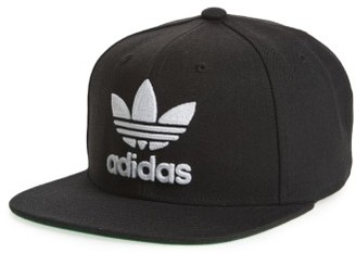 Men's Adidas Trefoil Chain Snapback Baseball Cap - Black $26 thestylecure.com