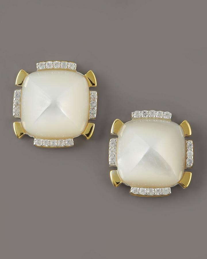 Kara Ross Geometric Mother-of-Pearl Earrings