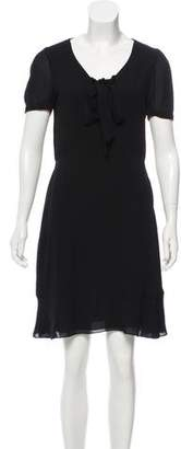 Saint Laurent Short Sleeve Knee-Length Dress
