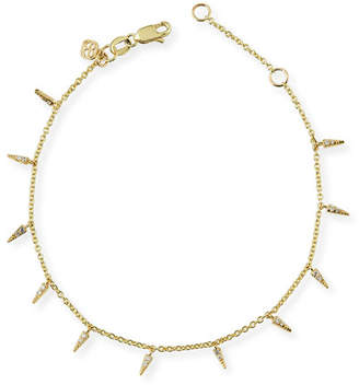 Sydney Evan Fringe Charm Bracelet with Diamonds