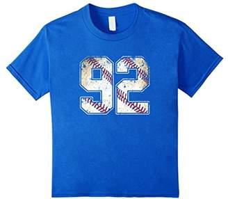 Baseball Jersey Number 92 Retro Vintage T-Shirt