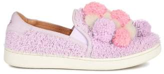 UGG Ricci Plush Genuine Shearling Pompom Slip-On Sneaker (Women)