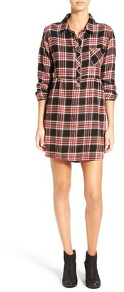 Volcom 'Cozy Day' Plaid Flannel Shirtdress $55 thestylecure.com