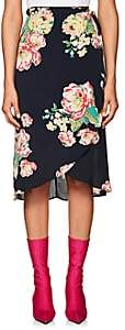 By Ti Mo byTiMo Women's Floral Crepe Wrap Skirt-Black