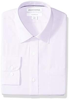 Amazon Essentials Men's Slim-Fit Wrinkle-Resistant Long-Sleeve Solid Dress Shirt