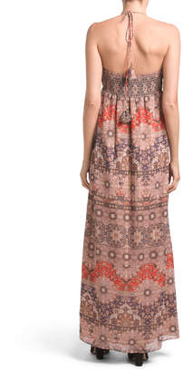 The Jetset Diaries Printed Maxi Dress With Slit