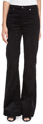 7 For All Mankind Ginger Flare-Leg Corduroy Pants, Black $189 thestylecure.com