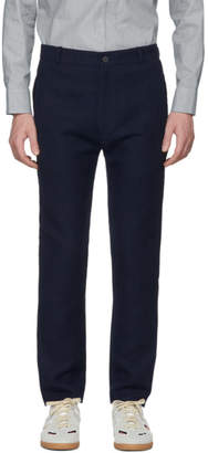House of the Very Islands Blue Slim-Fit Tailored Trousers