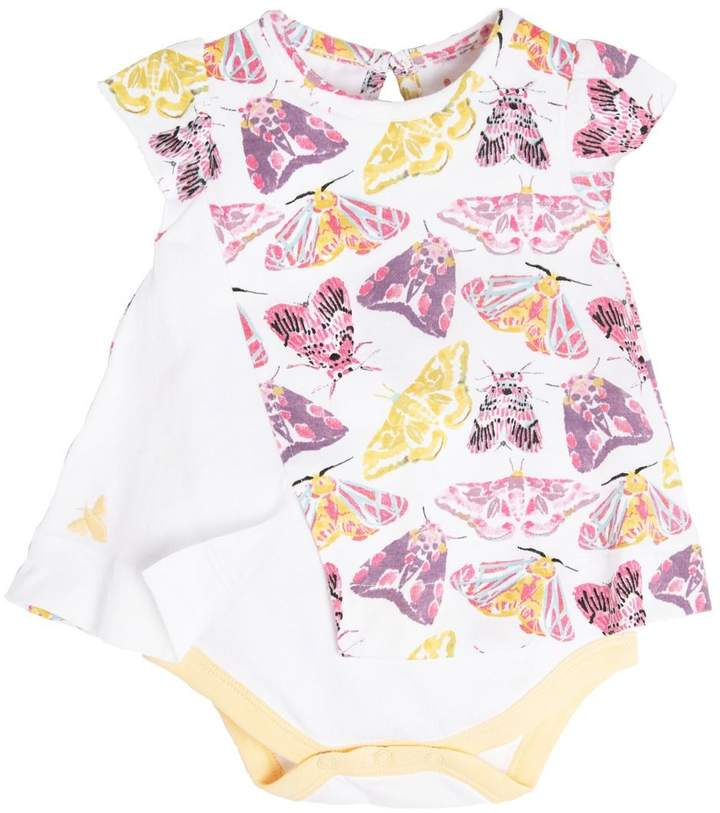 Burt's Bees Desert Moths Organic Baby Bodysuit Dress