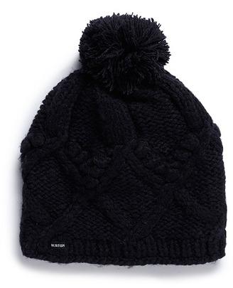 Burton 'Chloe' cable knit pompom beanie $120 thestylecure.com