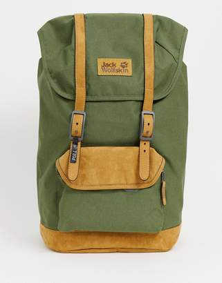 Jack Wolfskin Earlham Backpack In Khaki