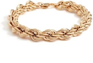 "Italian Gold 7-1/4"" Bold Polished Rope Bracelet, 14K Gold 10.4g"