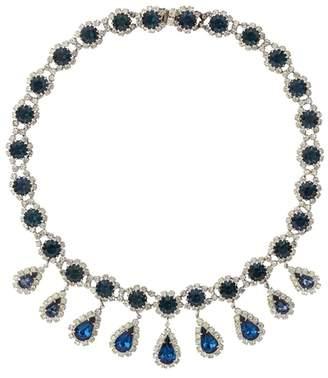 Susan Caplan Vintage 1950s Vintage Kramer Blue Swarovski Crystal Necklace