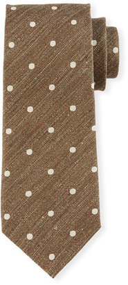 TOM FORD Textured Polka Dot Tie, Gray $250 thestylecure.com