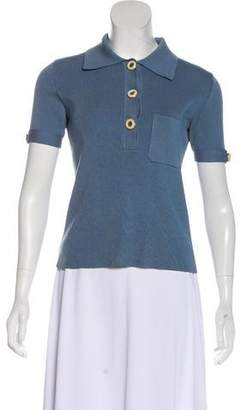 Chloé Silk Blend Short Sleeve Top