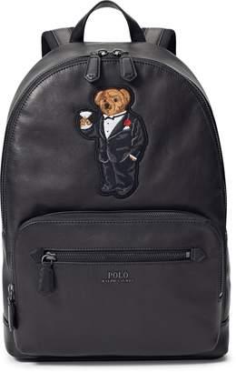 Ralph Lauren Martini Bear Leather Backpack
