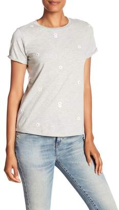 Lucky Brand Lucky Embroidered Daisies Tee