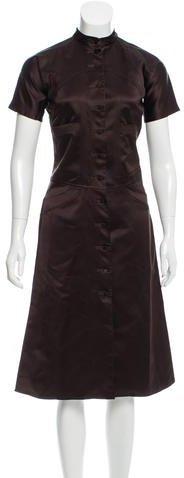 pradaPrada Satin A-Line Dress