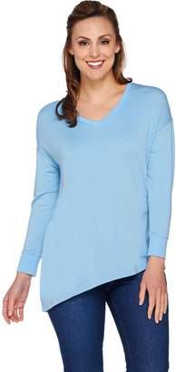 Halston H By H by Long Sleeve Knit Top with Crossover Back Detail