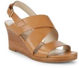 Cole Haan Penelope Wedge Heel Leather Sandals