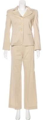 Armani Collezioni Linen-Blend Pantsuit