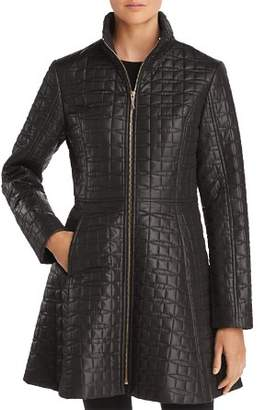 Kate Spade A-Line Bow-Quilted Coat