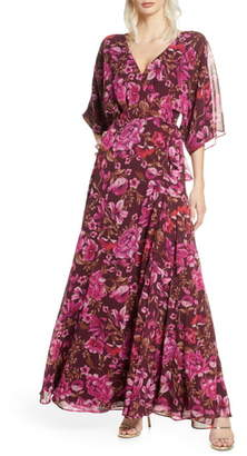 Fame & Partners The Jagger Floral Wrap Gown