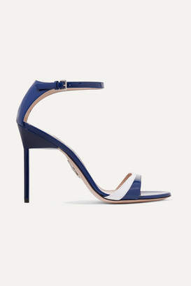 Miu Miu Two-tone Patent-leather Sandals - Navy