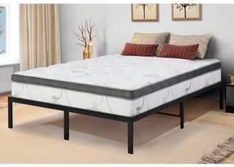 GranRest 14 Inch Innovative Metal Platform Bed Frame, Queen