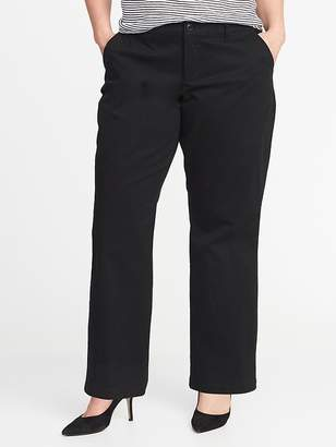 Old Navy Smooth & Slim Plus-Size Everyday Boot-Cut Khakis
